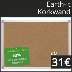 Earth IT Korkwand mit Aluminiumrahmen