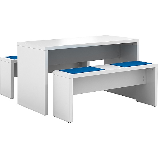 Evolution Bistro Tables and Bench Set With Seat Pa